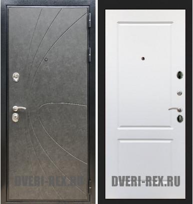 Стальная дверь Рекс Премиум 248 / ФЛ-117 (Белый софт)