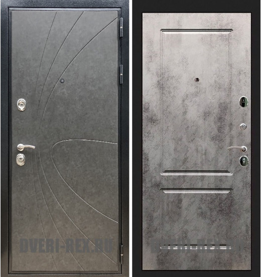 Стальная дверь Рекс Премиум 248 / ФЛ-117 (Бетон светлый)