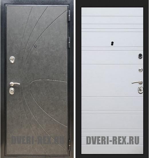 Стальная дверь Рекс Премиум 248 / ФЛ-14 (Белый софт)