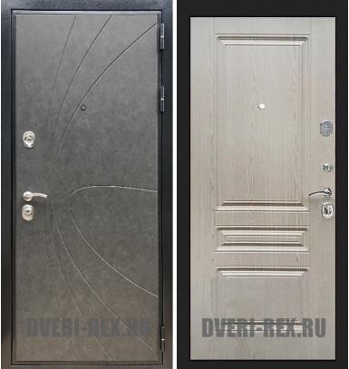 Стальная дверь Рекс Премиум 248 / ФЛ-243 (Беленый дуб)