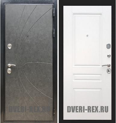 Стальная дверь Рекс Премиум 248 / ФЛ-243 (Белый софт)