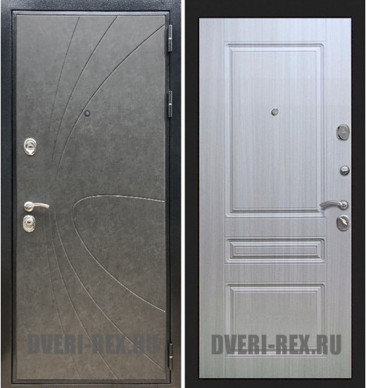 Стальная дверь Рекс Премиум 248 / ФЛ-243 (Сандал белый)