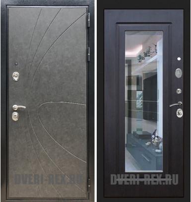 Стальная дверь Рекс Премиум 248 / ФЛЗ-158 с зеркалом (Венге)