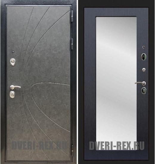 Стальная дверь Рекс Премиум 248 / Пастораль с зеркалом (Венге)