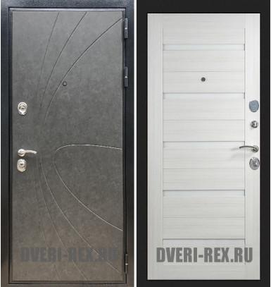 Стальная дверь Рекс Премиум 248 / СБ-14 (Лиственница беж)