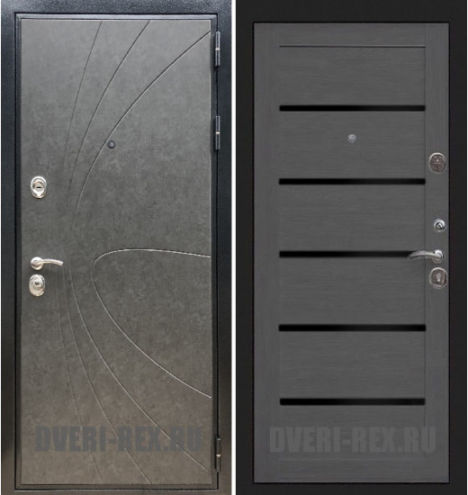 Стальная дверь Рекс Премиум 248 / СБ-14 (Лиственница серая)