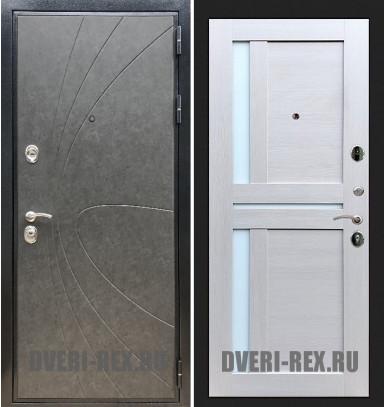 Стальная дверь Рекс Премиум 248 / СБ-18 (Лиственница беж)