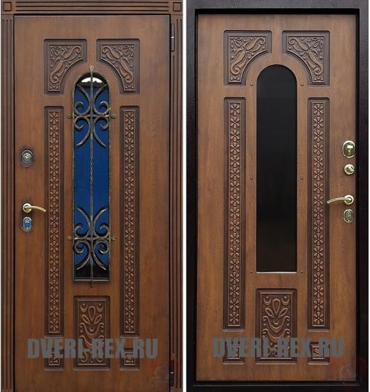 Стальная дверь Рекс Лацио с ковкой (Золотой дуб)
