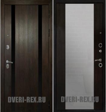 Стальная дверь Рекс Премьер Z-3 с зеркалом (Венге)
