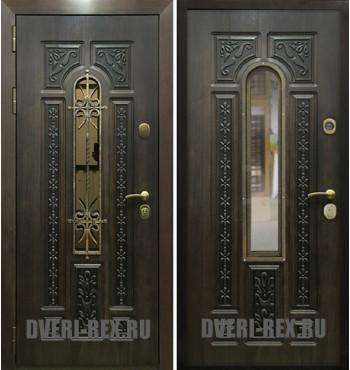 Стальная дверь Рекс 8 с ковкой (Алмон 28)