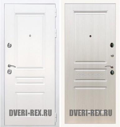Стальная дверь Рекс Премиум H (Силк сноу) / ФЛ-243 (Лиственница беж)
