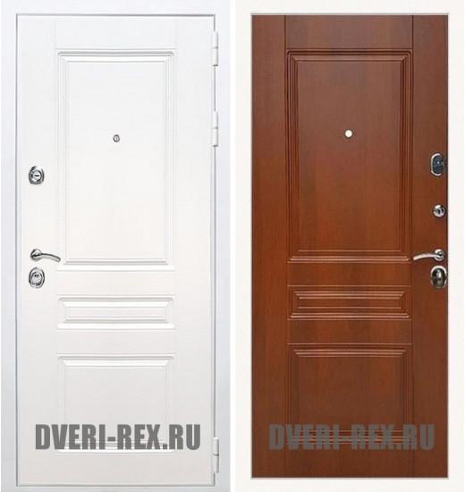Стальная дверь Рекс Премиум H (Силк сноу) / ФЛ-243 (Орех)