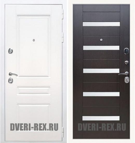 Стальная дверь Рекс Премиум H (Силк сноу) / СБ-14 (Венге)